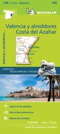 Michelin Karte Costa del Azahar, Valencia y alreddores
