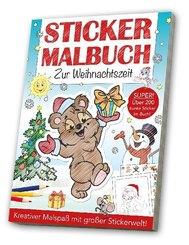 Stickermalbuch Zur Weihnachtszeit