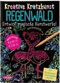 Kreative Kratzkunst - Regenwald