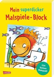 Mein superdicker Malspiele-Block