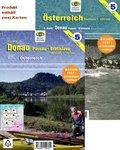 Jübermann Wassersport-Wanderkarte Österreich / Donau, Passau - Bratislava, 2 Bl.