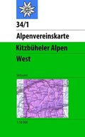 Alpenvereinskarte Kitzbühler Alpen West Skiausgabe