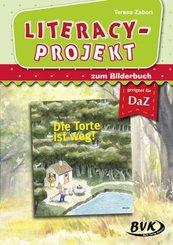 Literacy-Projekt zum Bilderbuch: Die Torte ist weg!