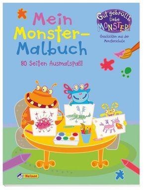 Gut gebrüllt, liebe Monster! Geschichten aus der Monsterschule - Mein Monster-Malbuch