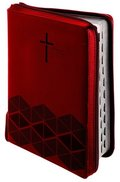 Luther21 - F.C. Thompson Studienausgabe - Reißverschluss, Kunstleder PU rot