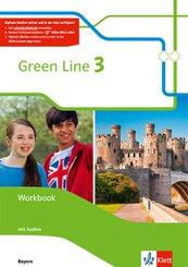 Green Line, Ausgabe Bayern ab 2017: 7. Schuljahr, Workbook mit Audio-CDs; 3