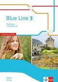 Blue Line, Ausgabe Mittelschule Bayern 2017: 7. Klasse, Workbook M-Zug mit Audio-CD
