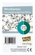 Wortkarten: Schwierige lautgetreue Wörter - Level 11+12 (Kartenspiel)