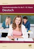 Freiarbeitsmaterialien für die 9.+10. Klasse: Deutsch