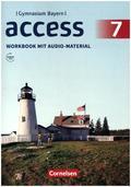 Access, Gymnasium Bayern: 7. Jahrgangsstufe, Workbook mit Audios online