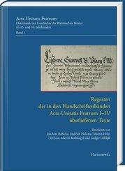 Regesten der in den Handschriftenbänden Acta Unitatis Fratrum I-IV überlieferten Texte
