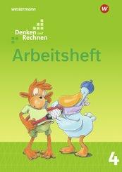Denken und Rechnen, Ausgabe 2017 für Grundschulen in den östlichen Bundesländern: 4. Schuljahr, Arbeitsheft
