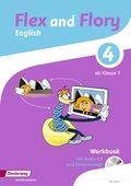 Flex and Flory: Workbook 4 mit Schüler-Audio-CD und Diagnoseheft