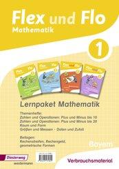 Flex und Flo, Ausgabe 2014 für Bayern: 1. Jahrgangsstufe, Lernpaket Mathematik, 4 Hefte (Verbrauchsmaterial)