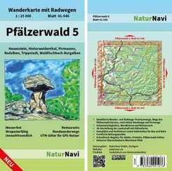 NaturNavi Wanderkarte mit Radwegen Pfälzerwald - Tl.5