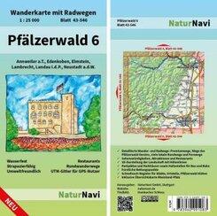 NaturNavi Wanderkarte mit Radwegen Pfälzerwald - Tl.6