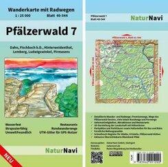 NaturNavi Wanderkarte mit Radwegen Pfälzerwald - Tl.7