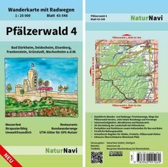 NaturNavi Wanderkarte mit Radwegen Pfälzerwald - Tl.4