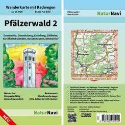 NaturNavi Wanderkarte mit Radwegen Pfälzerwald - Tl.2