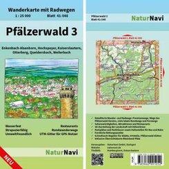NaturNavi Wanderkarte mit Radwegen Pfälzerwald - Tl.3