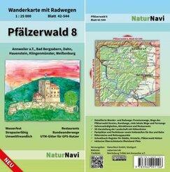 NaturNavi Wanderkarte mit Radwegen Pfälzerwald - Tl.8