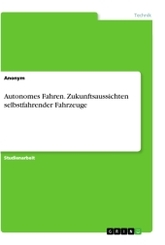 Autonomes Fahren. Zukunftsaussichten selbstfahrender Fahrzeuge