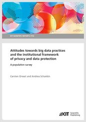 Attitudes towards big data practices and the institutional framework of privacy and data protection - A population surve