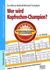 Wer wird Kopfrechen-Champion? 7.- 9. Klasse