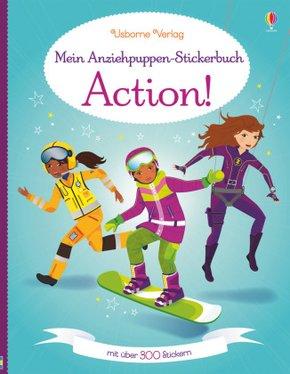 Mein Anziehpuppen-Stickerbuch: Action!