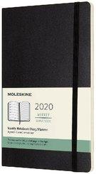 Moleskine 12 Monate Wochen Notizkalender 2020 Large/A5, Schwarz