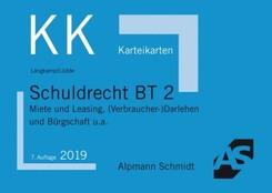 Alpmann-Cards, Karteikarten (KK): Schuldrecht BT - Tl.2