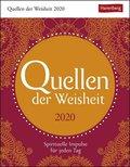 Quellen der Weisheit 2020 - Kalender, Tischkalender