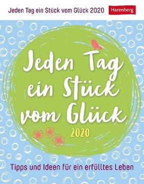 Jeden Tag ein Stück vom Glück 2020 - Kalender, Tischkalender