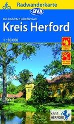 BVA Radwanderkarte Radwandern im Kreis Herford 1:50.000, reiß- und wetterfest, GPS-Tracks Download
