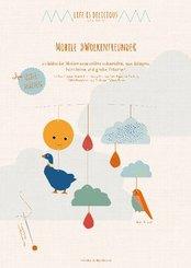 Bastelbögen Mobile - Wolkenfreunde