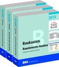 BKI Baukosten Gebäude, Positionen und Bauelemente Neubau 2019, 3 Bde.