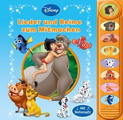 Disney - Die schönsten Mitmachlieder - 8-Button-Soundbuch - interaktives Bilderbuch mit 8 beliebten Kinderliedern zum Mi