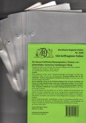 550 Dürckheim-Griffregister-Folien zum Einheften in Gesetzessammlungen