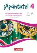 ¡Apúntate! - Nueva edición: Cuaderno de ejercicios mit interaktiven Übungen, Ausgabe Gymnasium; 4