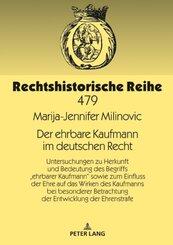 Der ehrbare Kaufmann im deutschen Recht