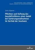 Pflichten und Haftung des Geschäftsführers einer GmbH bei Sanierungsmaßnahmen im Vorfeld der Insolvenz