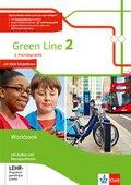 Green Line. Ausgabe 2. Fremdsprache ab 2018: 7. Klasse, Workbook mit Audio-CDs und Übungssoftware; 2