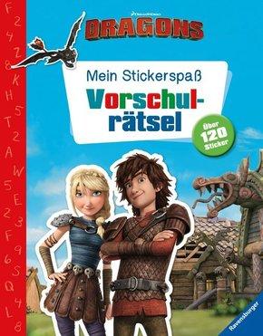 Mein Stickerspaß Dreamworks Dragons: Vorschulrätsel
