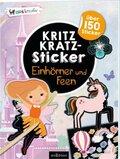 Kritzkratz-Sticker Einhörner und Feen