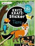 Kritzkratz-Sticker Tiere