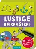 Lustige Reiserätsel (Spiel, 50 Karten mit abwischbarem Stift)