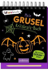 Mein Grusel-Kritzkratz-Buch, m. Holzstift