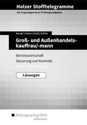 Holzer Stofftelegramme Baden-Württemberg: Groß- und Außenhandelskauffrau/-mann - Betriebswirtschaft und Steuerung und Kontrolle: Lösungen