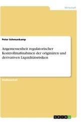 Angemessenheit regulatorischer Kontrollmaßnahmen der originären und derivativen Liquiditätsrisiken
