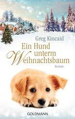 Ein Hund unterm Weihnachtsbaum
